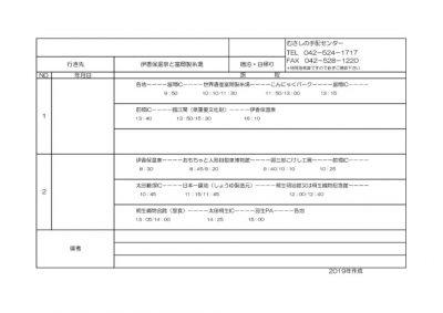 旅程表・伊香保温泉と富岡製糸場